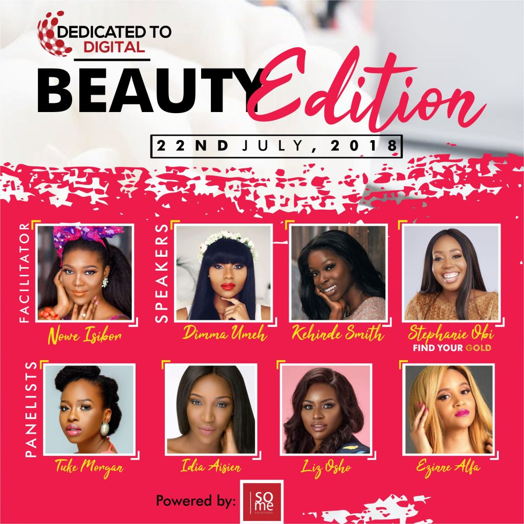 DEDICATED TO DIGITAL IS BACK WITH ITS BEAUTY EDITION MASTERCLASS ON THE 22ND OF JULY