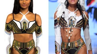 FASHION DESIGNER SILVIA ULSON ALEGEDLY PLAGARISES NIGERIAN DESIGNER, BFYNE'S 2017 SAHARA COLLECTION AT MIAMI SWIM WEEK