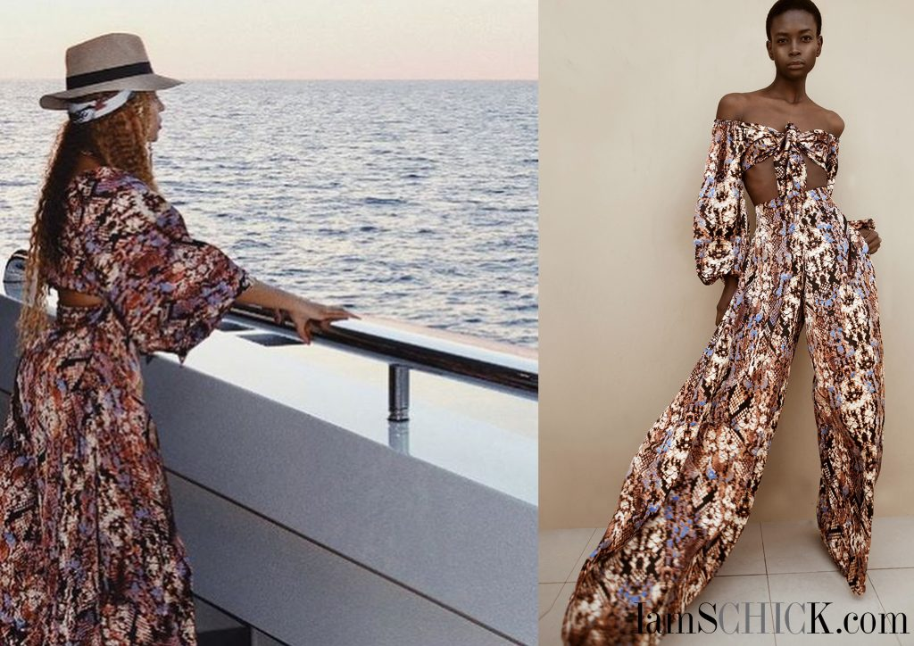BEYONCÉ IS ON AN EUROPEAN HOLIDAY ROCKING PIECES FROM SENEGALESE BRAND TONGORO STUDIO!