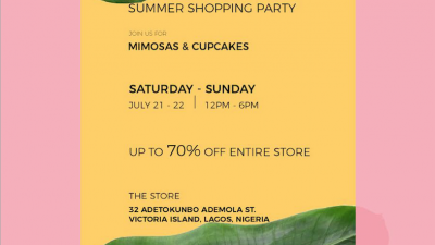 JOIN ANDREA IYAMAH FOR MIMOSAS AND CUPCAKES AT THEIR SUMMER SHOPPING PARTY THIS WEEKEND!