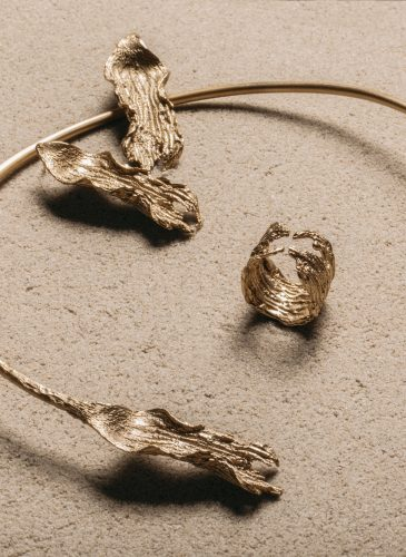 22k Gold Plated Rippled Seaweed Collection