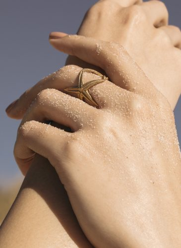 22k Gold Plated Starfish Ring