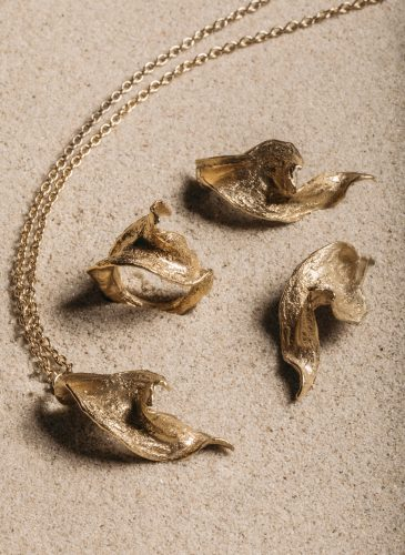 22k Gold Plated Twisted Seaweed Collection